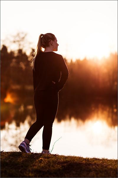Portrait Fotoshooting beim Sonnenuntergang